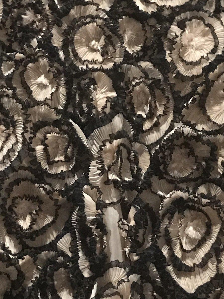 Dior dress ruffles